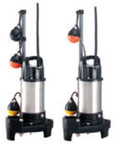 テラル 排水水中ポンプ【50PLT-6.4】60Hz PLT(自動式・親機のみ) 三相200V 汚水用 樹脂製 PL型