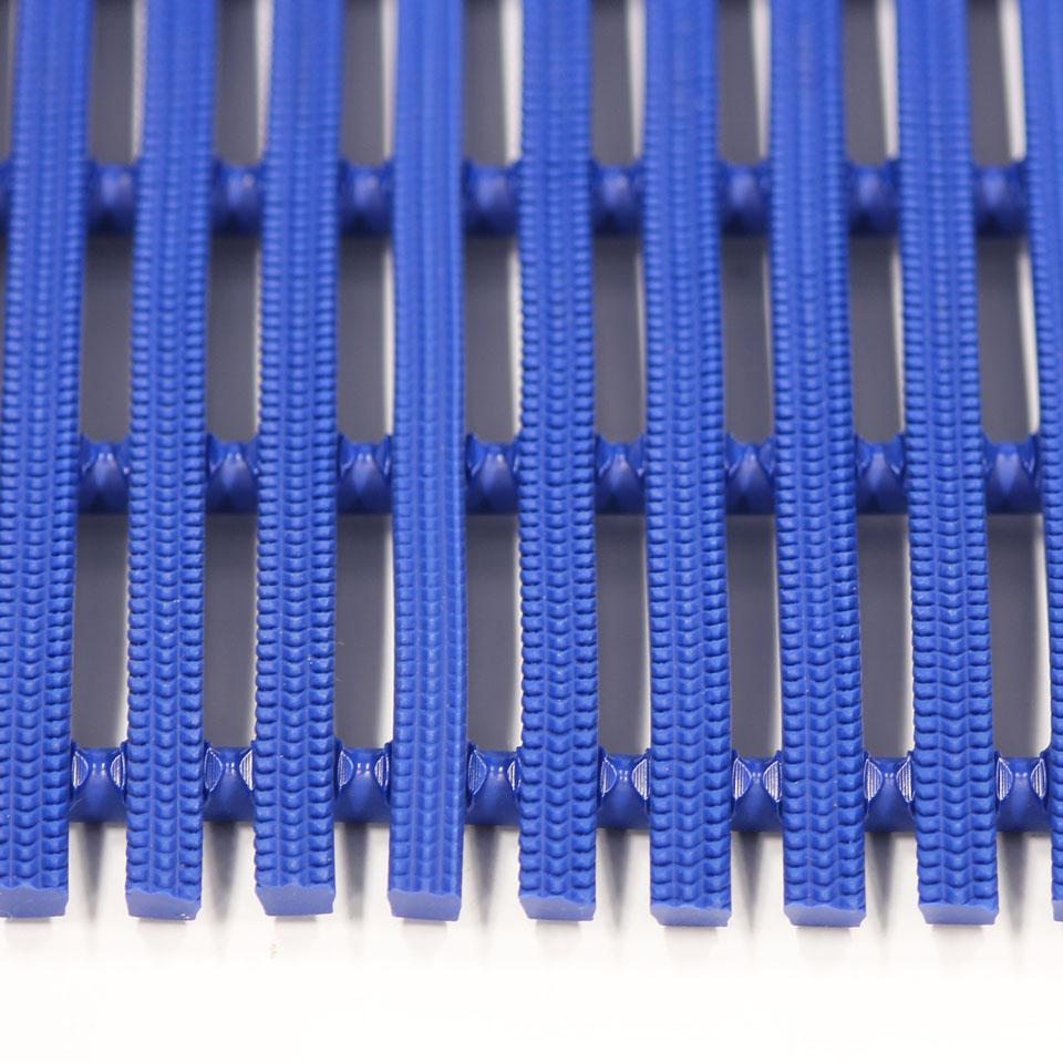####u.ミヅシマ工業【439-0210】セーフティマット ハード ブルー ハードタイプ 910X6M