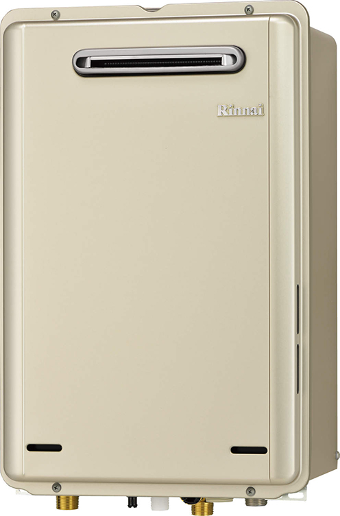 ###リンナイ ガス給湯器【RUX-E1616W-SK】給湯専用 音声ナビ エコジョーズ 屋外壁掛型 給湯・給水接続15A 16号 側方10mm近接設置タイプ