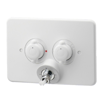 カクダイ【127-102-W】洗濯機用混合栓(立ち上がり配管用)