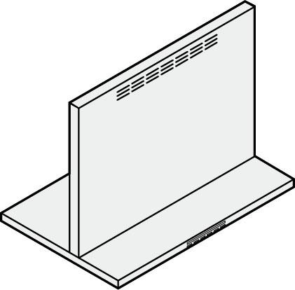 ###サンウェーブ/LIXIL レンジフード 部材【CLSW-7-665HSI】シルバー CLSシリーズ用同時給排気ユニット 高さ70cm用 間口75cm 受注生産