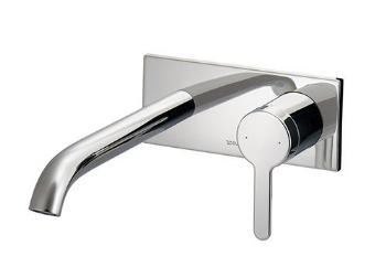新品入荷 カクダイ【#DU-10700040GK】壁付シングルレバー混合栓:クローバー資材館-木材・建築資材・設備