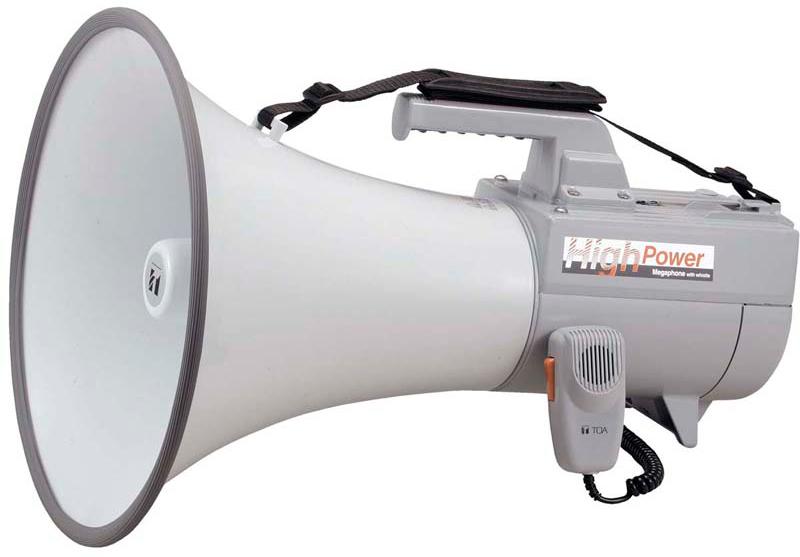 Яティーオーエー/TOA 音響機器【ER-2130W】ショルダーメガホン 30Wホイッスル音付