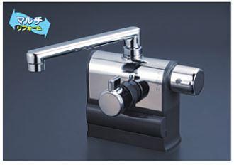 ∬∬KVK 水栓金具【KM3008R】デッキ型サーモスタット式混合栓 可変ピッチ 右ハンドル仕様 混合栓
