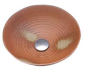 ≧KVK 洗面器【KV51A】美術工芸手洗鉢 天草陶石 〆焼/六兵