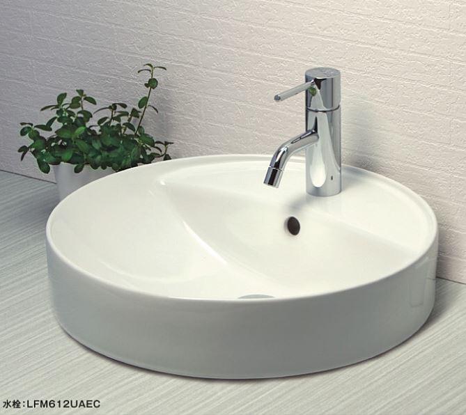 ≧KVK 洗面器【KV848QCTR】陶器 ポップアップ用穴付