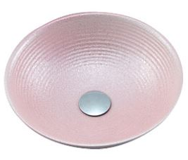 ≧KVK 洗面器【KV89A】美術工芸手洗鉢 天草陶石 ピンクラスター/六兵