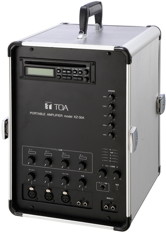 Яティーオーエー/TOA 音響機器【KZ-30A】移動用PAアンプ 30W×2ch CD付