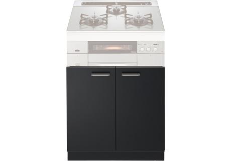 ###♪ノーリツ 収納庫【NLA6020】ブラック システムキッチン用両開扉収納庫