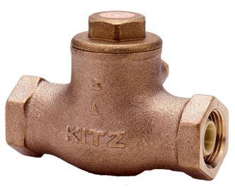 キッツ/KITZ【ONH50A】鉛フリーキーパロイ製 鉛レス青銅 スイングチャッキバルブ 10K 2