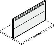 ###サンウェーブ/LIXIL レンジフード 部材【RFP-9-3550AW】ホワイト スライド金属幕板 スライド前幕板 調節範囲350~500mm 間口90cm