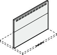 ###サンウェーブ/LIXIL レンジフード 部材【RFP-9-5070AW】ホワイト スライド金属幕板 スライド前幕板 調節範囲500~700mm 間口90cm