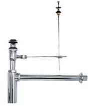 ≧KVK 排水金具【VR701PAU-FCTR】壁排水ボトルトラップ φ41用 オーバーフロー付