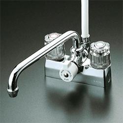 『カード対応OK!』KVK 水栓金具デッキ形一時止水付2ハンドルシャワー【KF205Z】(寒冷地用)