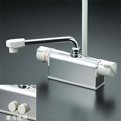 KVK水栓金具 【KF771ZNR3】 デッキ形サーモスタット式シャワー 取付配管ピッチ85mmタイプ 寒冷地用