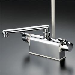 KVK 水栓金具【KF771ZT】デッキ形サーモスタット式シャワー 190mmパイプ付 寒冷地用