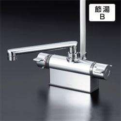 KVK水栓金具 【KF801T】 デッキ形サーモスタット式シャワー(取付ピッチ100mm)