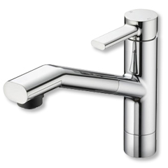 『カード対応OK!』KVK水栓金具【KM908】流し台用シングルレバー式シャワー付混合栓