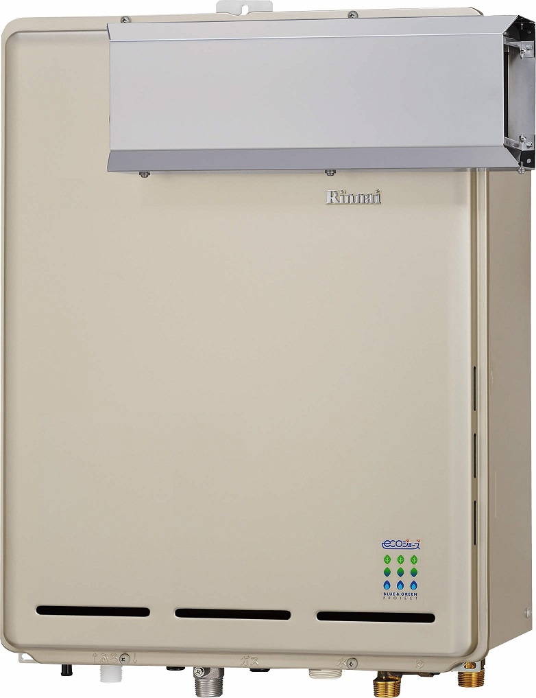 リンナイ ガスふろ給湯器【RUF-E1615AA(A)】アルコーブ設置型 16号 ecoジョーズ ユッコUF 給湯・給水接続15A 設置フリータイプ フルオート