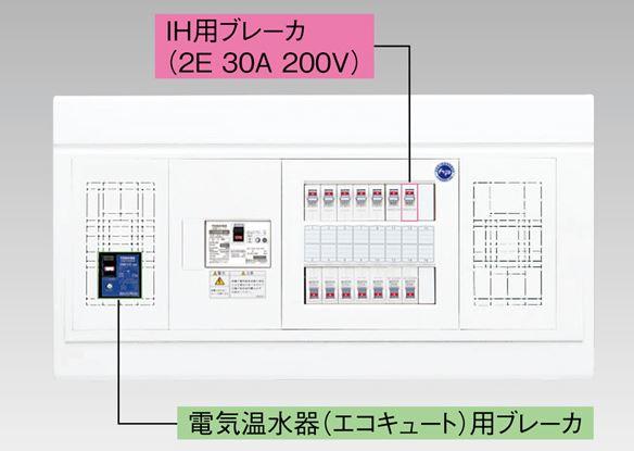 『カード対応OK!』●β東芝 電設資材【TFNPB3E6-222TL4NB】扉なし・機能付 電気温水器(エコキュート)+IH用(主幹60A)