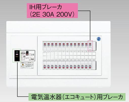 『カード対応OK!』●β東芝 電設資材【TFNPB3E7-404TB4C】扉なし・機能付 エコキュート(電気温水器)+IH用(主幹75A)