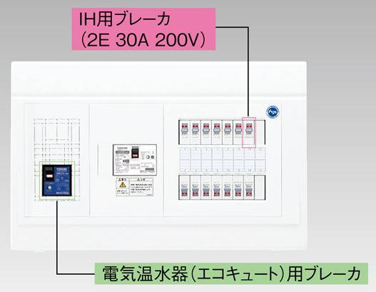 『カード対応OK!』●β東芝 電設資材【TFNPB3E6-62TL4B】扉なし・機能付 エコキュート(電気温水器)+IH用(主幹60A)