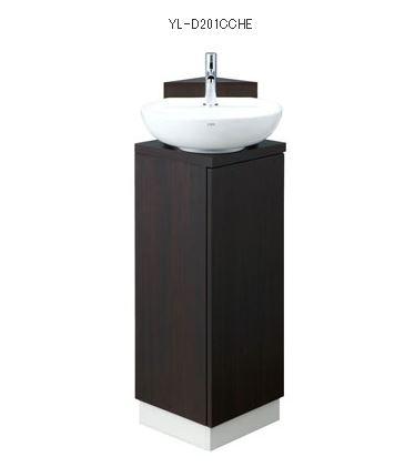 『カード対応OK!』INAX LIXIL コーナー手洗いキャビネット【YL-D201CCHE】床排水 ハンドル水栓 セット品