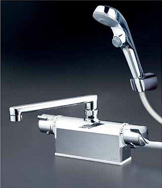 KVK 水栓金具【KF771TR2S2】フルメッキワンストップシャワーヘッド付 デッキ形サーモスタット式シャワー 240mmパイプ付