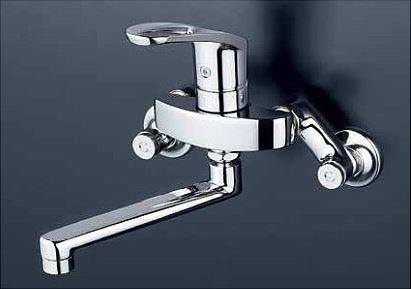 KVK 水栓金具【KM5000ZTR2】フルメタルseries シングルレバー式混合水栓 240mmパイプ付 逆止弁なし 寒冷地用