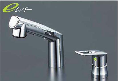 KVK 水栓金具【KM5271TCNEC】シングルレバー式洗髪シャワー eシャワー シャワー引出しタイプ ヒートン付