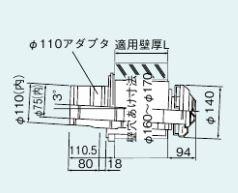 リンナイ【FFT-12A-200】給排気筒トップ