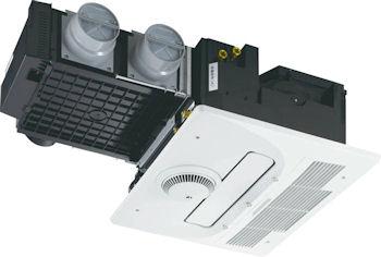 『カード対応OK!』ノーリツ/NORITZ【BDV-M3305AUKNT-J3-BL】温水式浴室暖房乾燥機 天井カセット形3室24時間ミスト機能付/自動乾燥機能タイプ