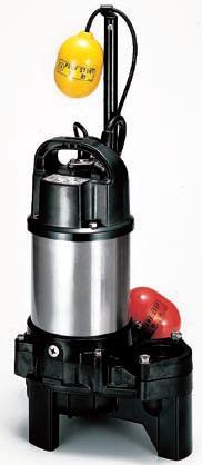 ツルミポンプ 汚物用 【65PUA22.2】水中ハイスピンポンプ 三相200V 自動形