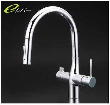 KVK【KM6081EC】浄水器専用シングルレバー式シャワー付混合栓