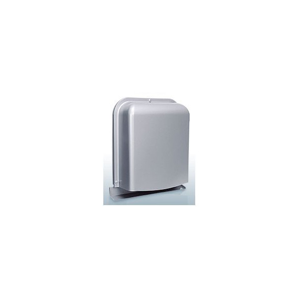 『カード対応OK!』西邦工業【GFXD125GBSC】深型・薄型・ガラリ型・防音タイプ・下部開閉タイプ・防火ダンパー付防音型製品・ステンレス製換気口・ワイド水切り付