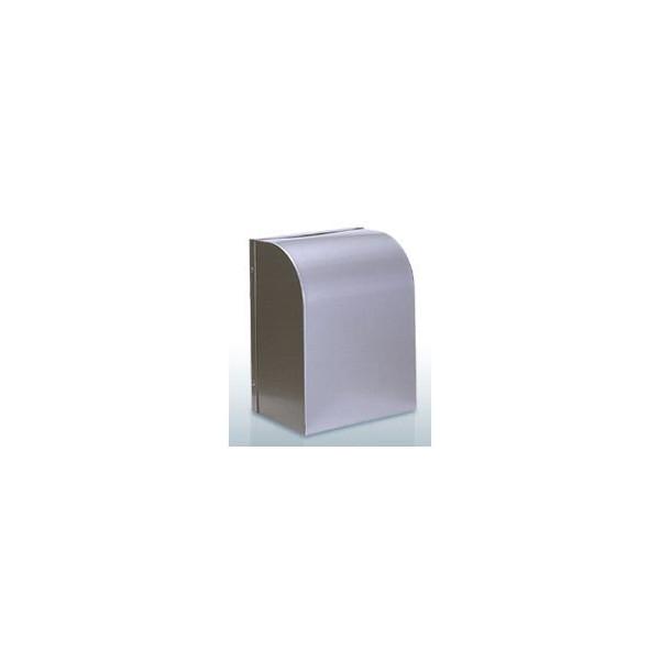 『カード対応OK!』西邦工業【WB100BS】角型フード・金網型3メッシュ・防音タイプ防音型製品・ステンレス製換気口