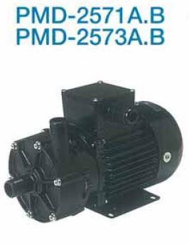 三相電機【PMD-2571A2W】小型マグネットポンプ フランジ接続 単相100V 50Hz