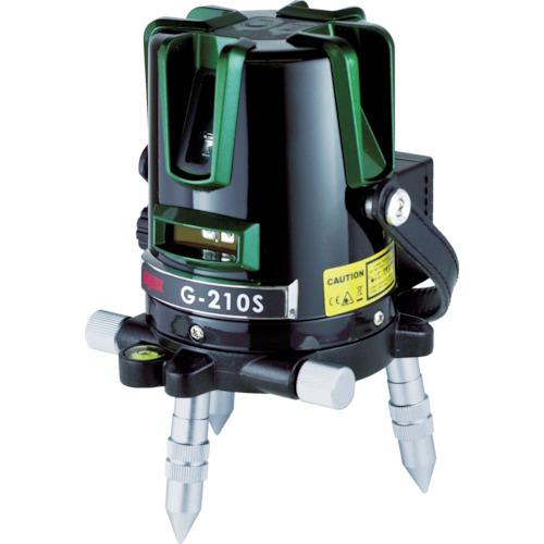 ■〒マイゾックス/マイゾックス 測量器【221359】(8202952) マイゾックス グリーンレーザー墨出器 G-210S 発注単位1