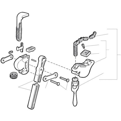 ■〒Ridge Tool Compan/RIDGE 部品【32180】(7882220) RIDGE E-1583-X チェーンアッセン F/S-4A.S-6A 発注単位1