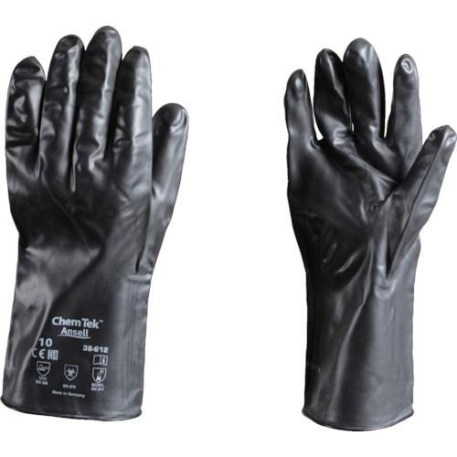 ■〒アンセル・ヘルスケア・ジャパン/アンセル 手袋A【38-612-9】(8580711)アンセル 耐薬品手袋 ケミテック 38-612 Lサイズ 受注単位1