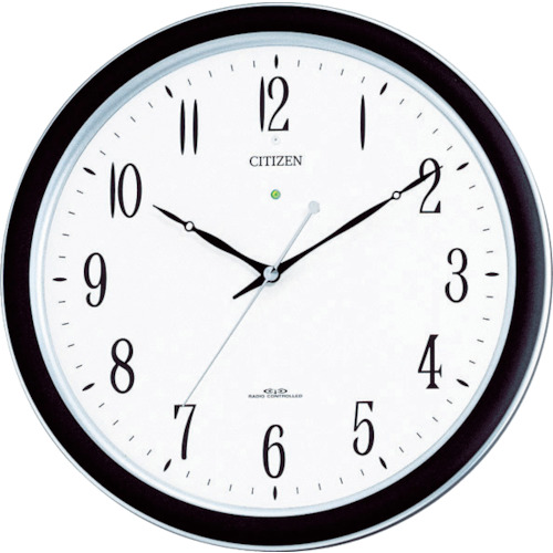 『カード対応OK!』■〒リズム時計工業(株)/シチズン 【4MY691-N19】(4853253)ネムリーナM691F(電波掛時計)プラスチック枠シルバーメタリック 受注単位1