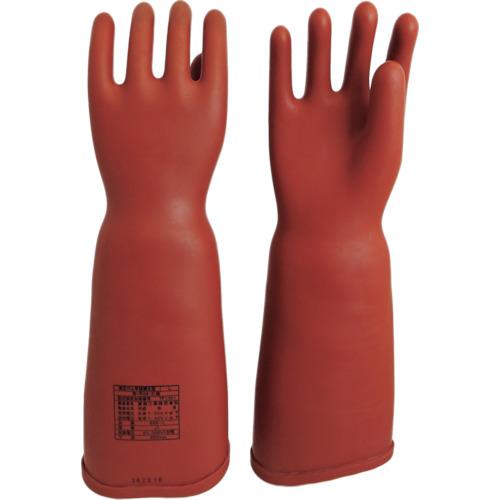 ■〒渡部工業/ワタベ 手袋【555-LL】(8202433)ワタベ 高圧ゴム手袋460mm胴太型LL 受注単位1