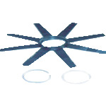 『カード対応OK!』■〒Ridge Tool Compan/RIDGE【64502】(4951760) シースネイク250mmセンタリングスターガイド 10個入 受注単位1