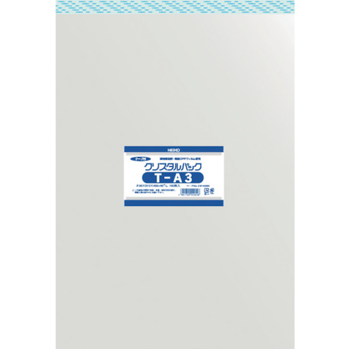 ■〒シモジマ/HEIKO 梱包資材【6742300 T31-43.5】(8562741)HEIKO OPP袋 テープ付き クリスタルパック T-A3 受注単位10