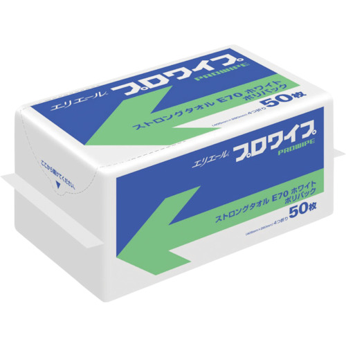 『カード対応OK!』■〒エリエールビジネスサポート(株)/エリエール【703307】(4549431)プロワイプストロングタオルE70 ホワイトポリパック 受注単位1