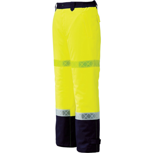 ■〒ジーベック/ジーベック ウェア【800-80-3L】(7996241) ジーベック 800 高視認防水防寒パンツ 3L イエロー 発注単位1