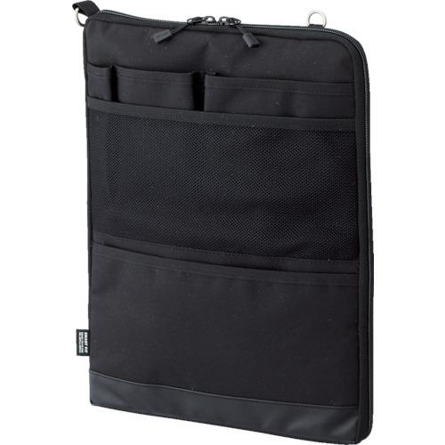 ■〒LIHIT LAB./リヒト オフィス用品【A7683-24】(8559773)リヒト A4バッグインバッグ(タテ型)ブラック 受注単位10