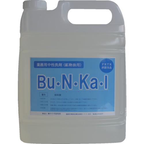 ■〒ヤナギ研究所/ヤナギ研究所 化学製品【BU-10-F】(8550167)ヤナギ研究所 物油用中性洗剤 Bu・N・Ka・I 5L 受注単位4