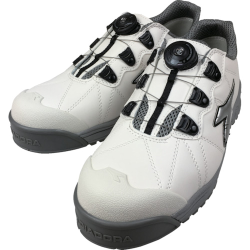 ■〒ドンケル/ディアドラ 靴【FC181-280】(8552271)ディアドラ DIADORA安全作業靴 フィンチ 白/銀/白 28.0cm 受注単位1