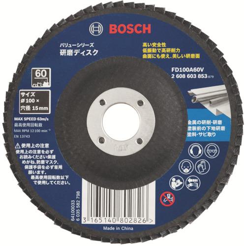 至上 ☆☆FD100A40V カード対応OK 実物 ■〒ボッシュ FD100A40V 受注単位5 Vシリーズ 研磨ディスク 4973372